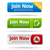 picture of joining  - Join now modern minimal button collection - JPG