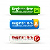 Register here modern button templates