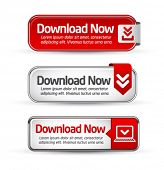 Shiny minimal red download now button collection