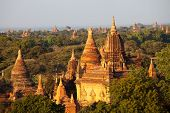 Bagan at sunset in Myanmar