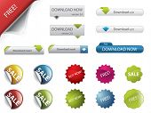 Web-Design-Buttons und badges