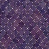 Watercolor Argyle Abstract Geometric Plaid Seamless Pattern With Gold Glitter Line. Watercolour Hand poster