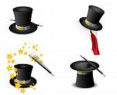 Vector de sombrero mágico