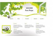 Soccer web site design template