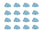 3d Icons for Cloud Computing