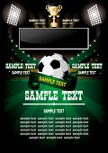 foto of football field  - Football poster with champion cup and  place for your text - JPG