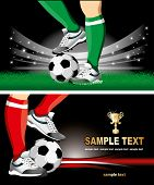 Football Poster With Soccer Ball And Place For Your Text