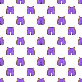 Hockey Shorts Pattern. Cartoon Illustration Of Hockey Shorts Pattern For Web poster