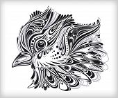 Abstract decorative spring bird