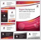 Stylish business backgrounds and cards - templates collection
