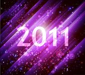 2011 new year violet shiny background with diagonal stripes