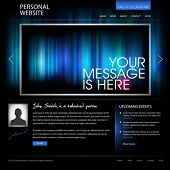 black web design template vector - compatible with 960px width layout - great as personal website fo