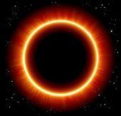 Eclipse space background - JPG version