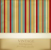 vector vintage striped abstract background