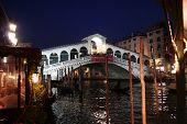 Venice By Night  Rialto Bridge