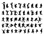 50 vector silhouettes