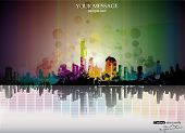 colorful city design background. vector