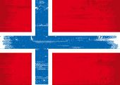 Norwegian grunge flag A Norwegian grunge flag with a texture