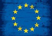 European grunge flag. A european flag whith a texture