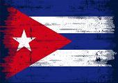 Cuban grunge flag A grunge flag of Cuba with a texture