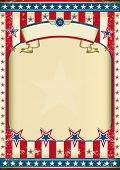 American grunge frame with ribbon. A traditional vintage american poster for you