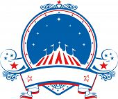 stock photo of school carnival  - colored stamp circus - JPG
