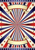 Americana nos marco tricolor. Un fondo para su publicidad.