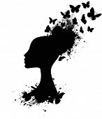 Silhouette of a Butterfly Queen, Profile