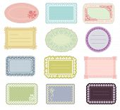 pic of frilly  - Set of 12 Romantic Vintage Labels - JPG