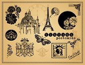 Vintage Etchings and Design Elements