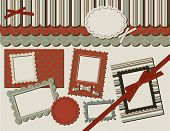 Scrapbook Set: Patterns, labels, frames and bows for your scrapbook projects