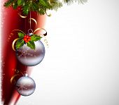 gray balls on the Christmas background