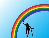 Raster painting the rainbow