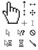 Raster set of pixel cursors