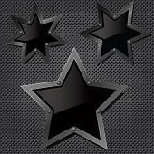 Vector grill texture with stars