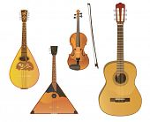 stock photo of acoustic guitar  - Vector music instruments - JPG