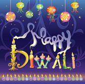 Diwali the festival of lights greeting