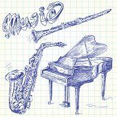 garabatos de música