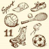 Sport Kritzeleien