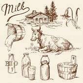 foto of cattle breeding  - milk doodles - JPG