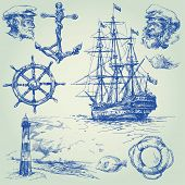 picture of historical ship  - nautical set - JPG