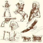 stock photo of indian chief  - wild west collection - JPG