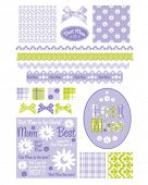 Design Elements for scrap booking, greeting cards, wallpaper, textiles, stencils all patterns are repeat.