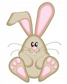 stock photo of bunny ears  - Cute Easter Bunny - JPG