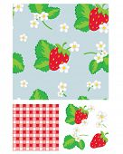Pretty strawberry patterns. Use to print onto fabric for home baking or as backgrounds or other dÃ?Â
