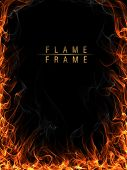 Fire, flames and smoke frame
