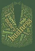 Textcloud: tuxedo of business words