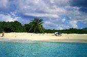 Постер, плакат: Частный остров тропический пляж