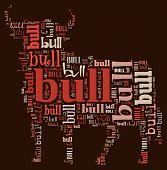 Textcloud: silhouette of bull