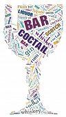 Wordcloud: goblet of bar words